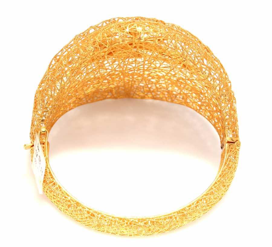22K Gold High Hinged Bangle Bracelet