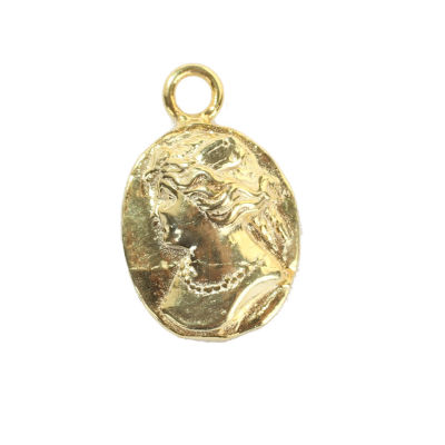 14 Ayar Altın Bayan Figürlü Madalyon Kolye Ucu