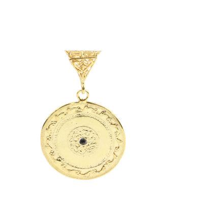 14 Ayar Altın Çiçek Madalyon Kolye Ucu