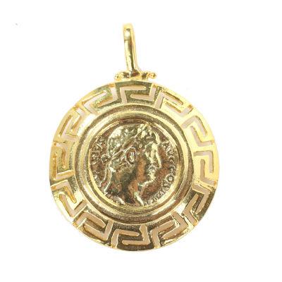 14 Ayar Altın Grekli Sezar Figürlü Madalyon Kolye Ucu