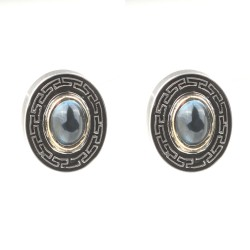 14 Ayar Altın & Gümüş Küpe - Thumbnail
