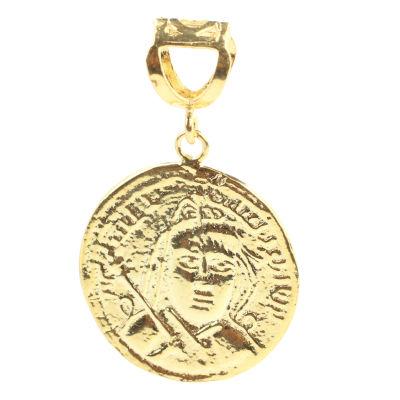 14 Ayar Altın İbranice Yazılı Madalyon Kolye Ucu