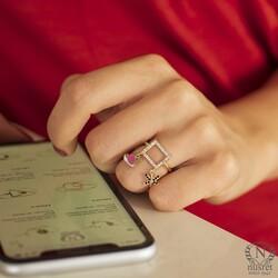 14 Ayar Altın Kuğu ve Yusufçuk Modeli Trend Yüzük - Thumbnail