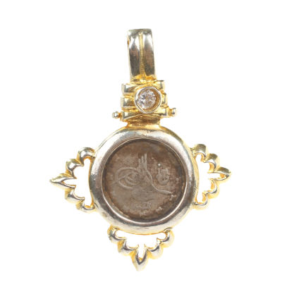 14 Ayar Altın Osmanlı Tuğrası Madalyon Kolye Ucu