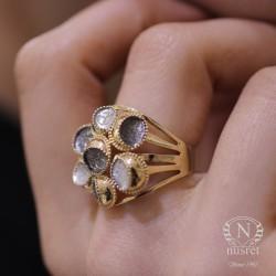 14 Ayar Altın Toplu Model Yüzük - Thumbnail