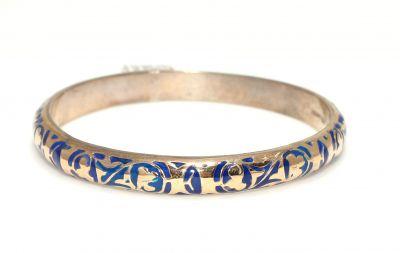 14 Ayar Altın ve Gümüş Grek Desenli Astar Bilezik