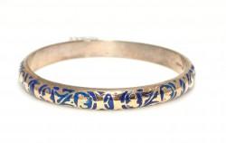 14 Ayar Altın ve Gümüş Grek Desenli Astar Bilezik - Thumbnail