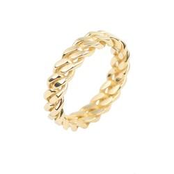 14 Ayar Altın Zincir Model Yüzük - Thumbnail