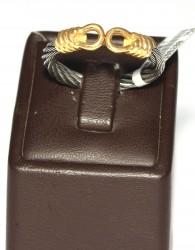 18 Ayar Altın Çelik Kollu Yüzük - Thumbnail