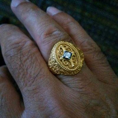 22 Ayar Altın Antik Tasarım Erkek Yüzüğü