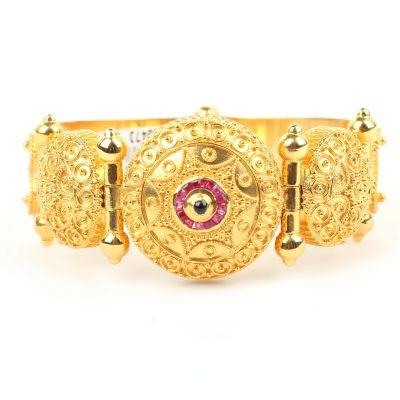 22 Ayar Altın Antik Telkari Bilezik