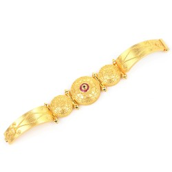 22 Ayar Altın Antik Telkari Bilezik - Thumbnail