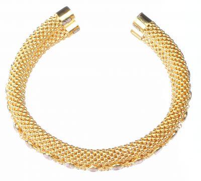 22 Ayar Altın Jessica Zincirli Taşlı Bilezik