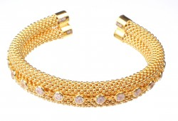 22 Ayar Altın Jessica Zincirli Taşlı Bilezik - Thumbnail