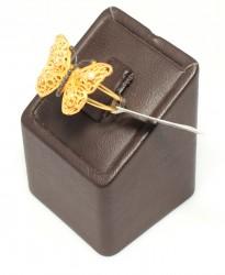 Kelebek Model 22 Ayar Altın Yüzük - Thumbnail