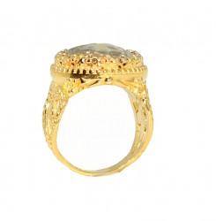 22 Ayar Altın Sezar Figürlü Yüzük - Thumbnail