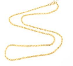 22 Ayar Altın Spiral Model Zincir, İnce - Thumbnail