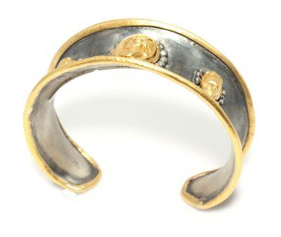 24 Ayar Altın Gümüş Elizabeth Bilezik