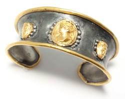 24 Ayar Altın Gümüş Elizabeth Bilezik - Thumbnail