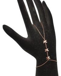 925 Ayar Gümüş 3 Parça Minik Kelebek Modeli Şahmeran, Pembe - Thumbnail