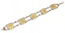 925 Ayar Gümüş ve Bronz Karışımı Paralı Antik Bizans Bileklik - Thumbnail