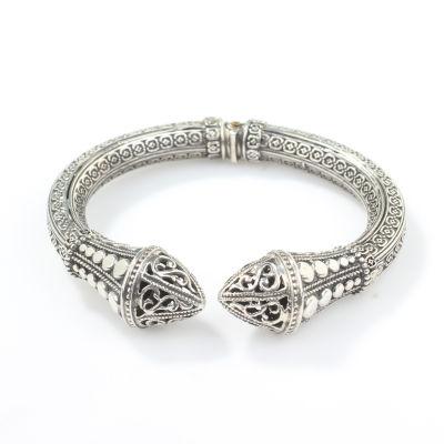 925 Ayar Gümüş Antik Bizans Tasarım Bilezik