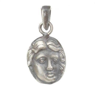 925 Ayar Gümüş Antik Roma Dönemi Madalyon Kolye Ucu