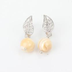 925 Ayar Gümüş Aytaşı Taşlı Küpe - Thumbnail