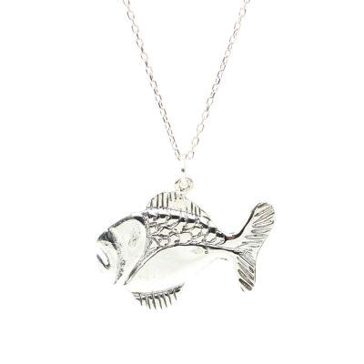 925 Ayar Gümüş Balık Charm Kolye