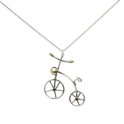 925 Ayar Gümüş Bisiklet Kolyesi