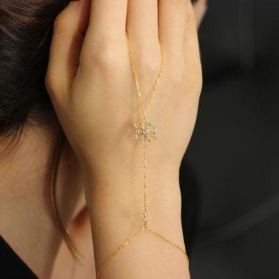 925 Ayar Gümüş Çiçekli Kar Tanesi Şahmeran, Beyaz Taş
