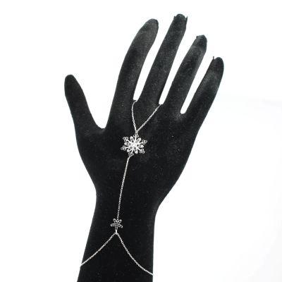 925 Ayar Gümüş Çiçekli Kar Tanesi Şahmeran, Siyah Taş