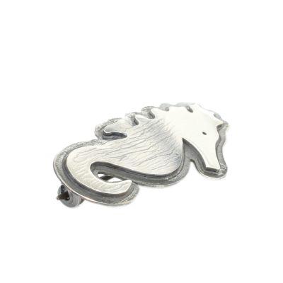 925 Ayar Gümüş Deniz Atı Broş
