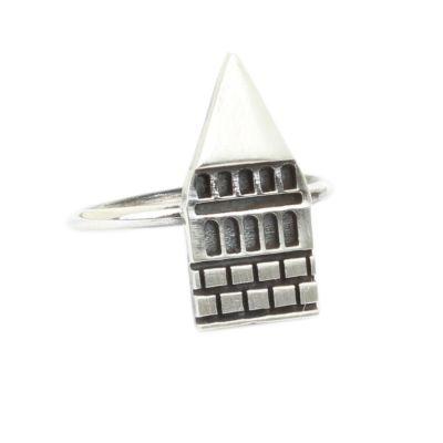 925 Ayar Gümüş Galata Kulesi Yüzük