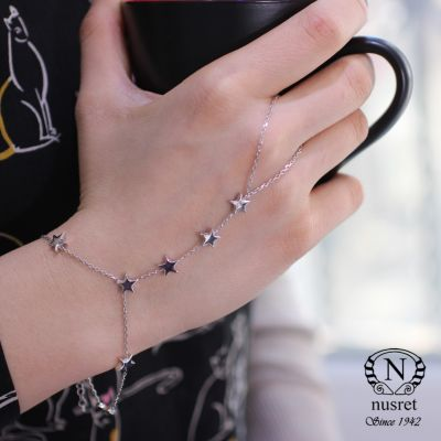 925 Ayar Gümüş Gökyüzü Yıldızlar Şahmeran Bileklik