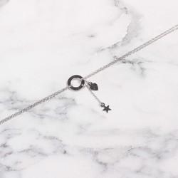 925 Ayar Gümüş Halka & Kalp & Yıldız Bileklik - Thumbnail