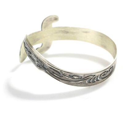 925 Ayar Gümüş İşlemeli Kılıç Bilezik