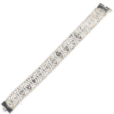 925 Ayar Gümüş Kalın Bileklik