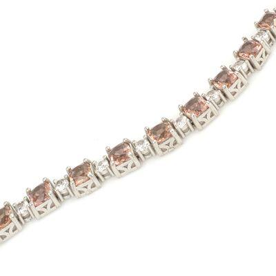 925 Ayar Gümüş Kare Zultanit Taşlı Suyolu Bileklik