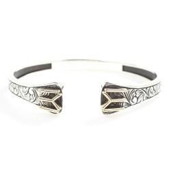 925 Ayar Gümüş Kayı Boyu Sembolü Erkek Bilekliği - Thumbnail