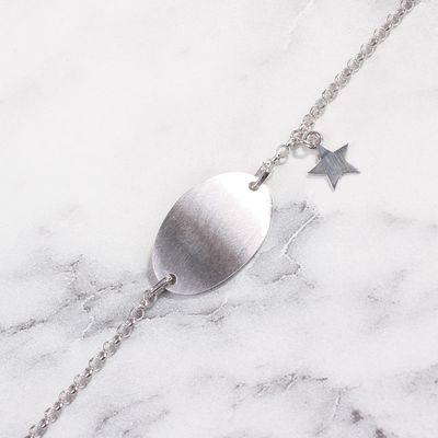 925 Ayar Gümüş Plaka & Yıldız Bileklik