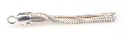 925 ayar Gümüş Püskül, Beyaz