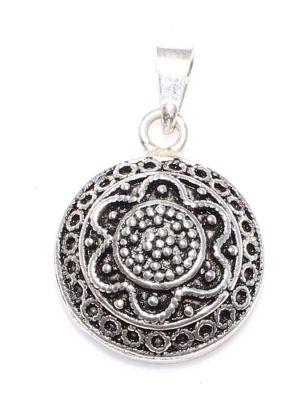 925 Ayar Gümüş 2,6 cm Telkari Kolye Ucu