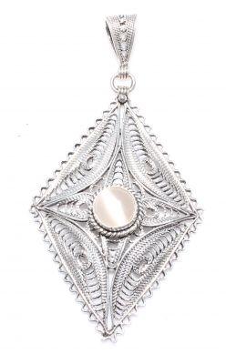 925 Ayar Gümüş Kedigözü Telkari Kolye Ucu
