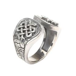925 Ayar Gümüş Tıp Amblemi Erkek Yüzük - Thumbnail