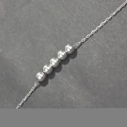 925 Ayar Gümüş Top Bileklik - Thumbnail