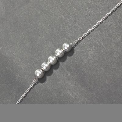925 Ayar Gümüş Top Bileklik