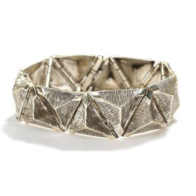 925 Ayar Gümüş Üçgen Bilezik