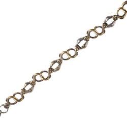 925 Ayar Gümüş ve Bronz Karışımı Antik Bileklik - Thumbnail
