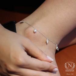 925 Ayar Gümüş Yaz Temalı Trend Halhal - Thumbnail
